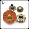 custom logo leather snap fasteners for fashion clothes
