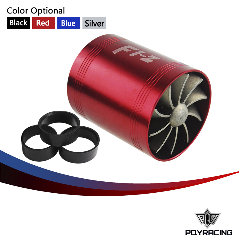 Pqy Racing - Supercharger F1-z Double Turbine Turbo Charger Air Intake Gas  Fuel Saver Fan Car Pqy-fsd11 - Buy Supercharger,F1-z,Supercharger Car Dual
