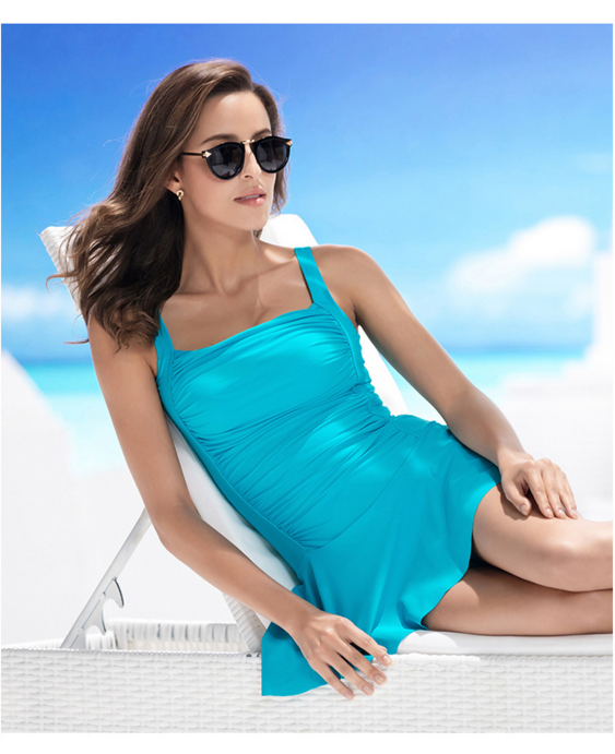 Wholesale High Quality Lycra Plain Color Summer Swimsuit Women Compression Swimwear And Beachwear waterproof Tankini 2017