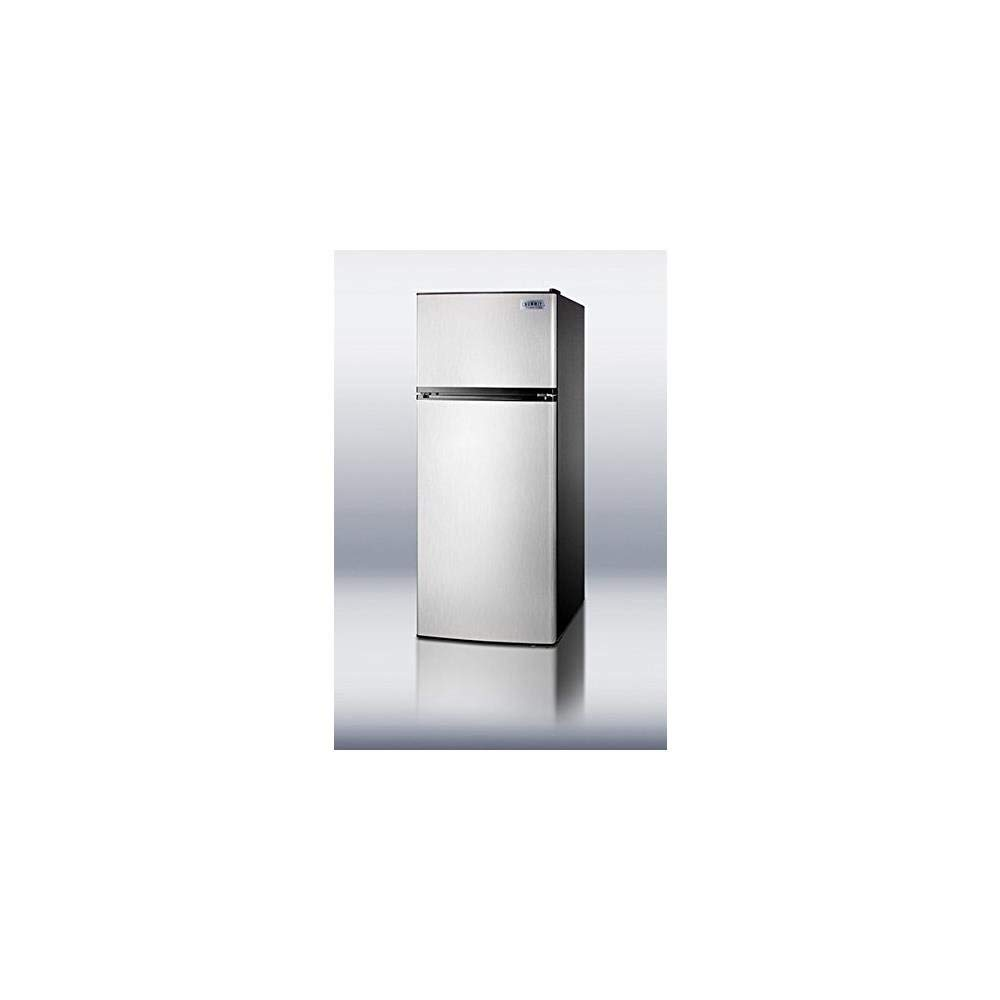 SUMMIT Refrigerator-Freezer With Frost-Free Operation - Stainless Stee