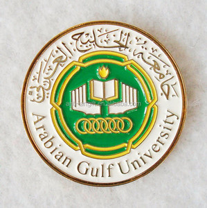 Custom Gold Plated Soft Enamel Round Arab Magnetic Lapel Pin