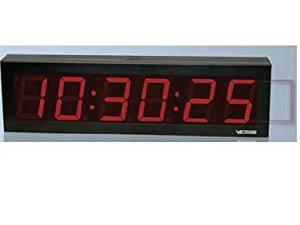 Valcom VIP-D640 IP PoE 6 Digit DigitalClock, 4-Inch