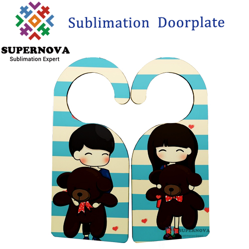 Christmas Ornament Sublimation Blank Door Hanger, Home Decoration MDF Doorplate, Blank Sublimation Doorplate