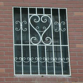 Décoration Ornementale De Gril De Fenêtre En Fer Forgé à Vendre