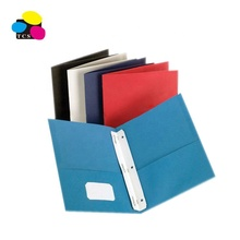 2-Pocket Document Map met Bevestigingsmiddelen, diverse Kleuren, 100% Gerecycled