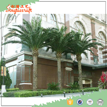 Artificial Tissue Culture Date Palm Tree For Home Garden Decoration
