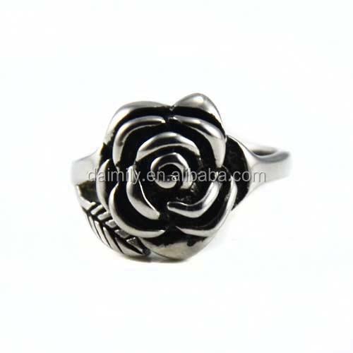 Stainless Steel Rose Flower Ring