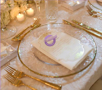 Pz22530 Wedding Gold Rim Gl Charger Plates Whole