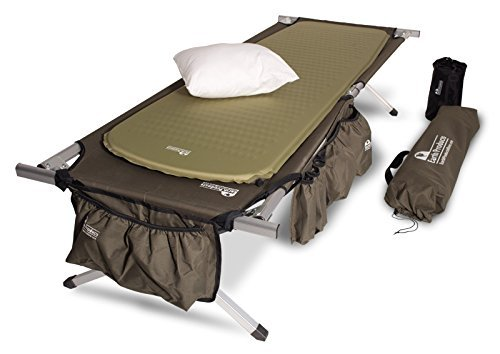 Camping Cot. Comfortable Coleman Folding Bed With Two Foot Position & Strong Steel Frame. Great For Indoor Or Outdoor Use. Hammock Is Best For Camping Tent, Family Road Trip, Traveling Or Guest.