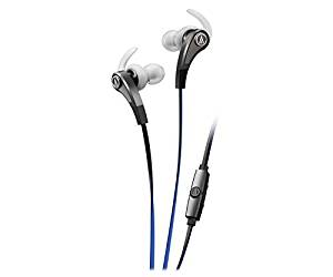 Audio-Technica SonicFuel In-Ear Headphones with In-Line Mic & Control - Stereo - Silver - Wired - Earbud - Binaural