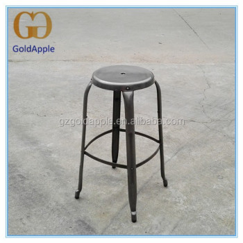 commercial bar furniture vintage metal industrial bar stool 301c
