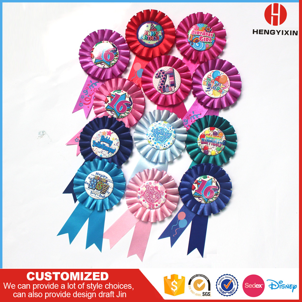 Disney Audited Factory Production Hugh Horse Race Award Flower Ribbon Rosette