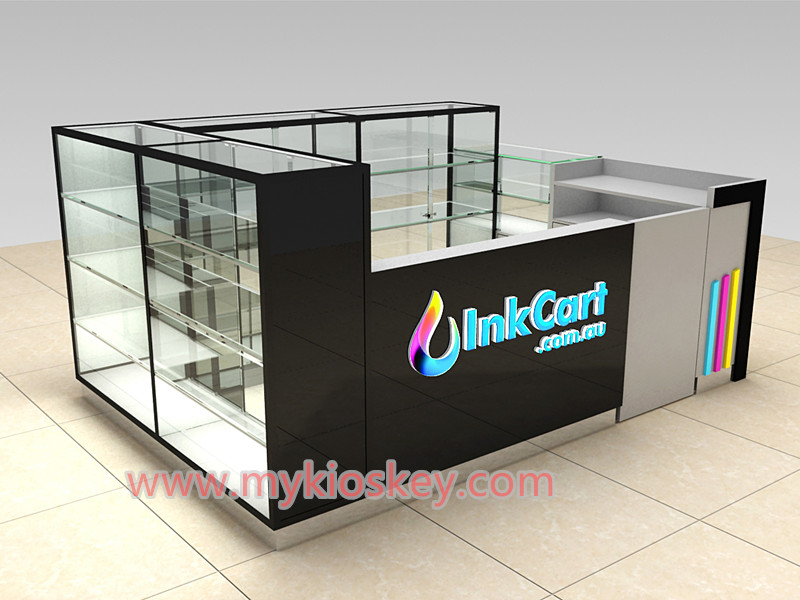 Glass mobile phone display counter for cell phone shop used