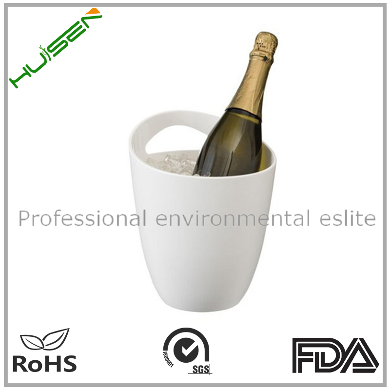 Plastic Rechargeable small round beer custom ice bucket