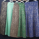 New 5 Color Muslim Long Skirts Hot Stamping Pattern Maxi Hip Skirt Polyester
