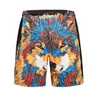 Cool mens speedos mens latest cute wofl print swimwear best male bathing suits polyester swim trunks with liner