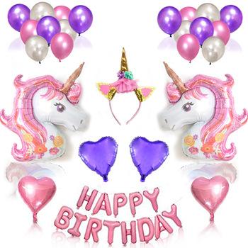 happy birthday letter balloons kids foil balloons unicorn letter foil balloons