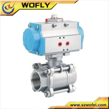 Pneumatic Actuator Spring Return Ball Valve