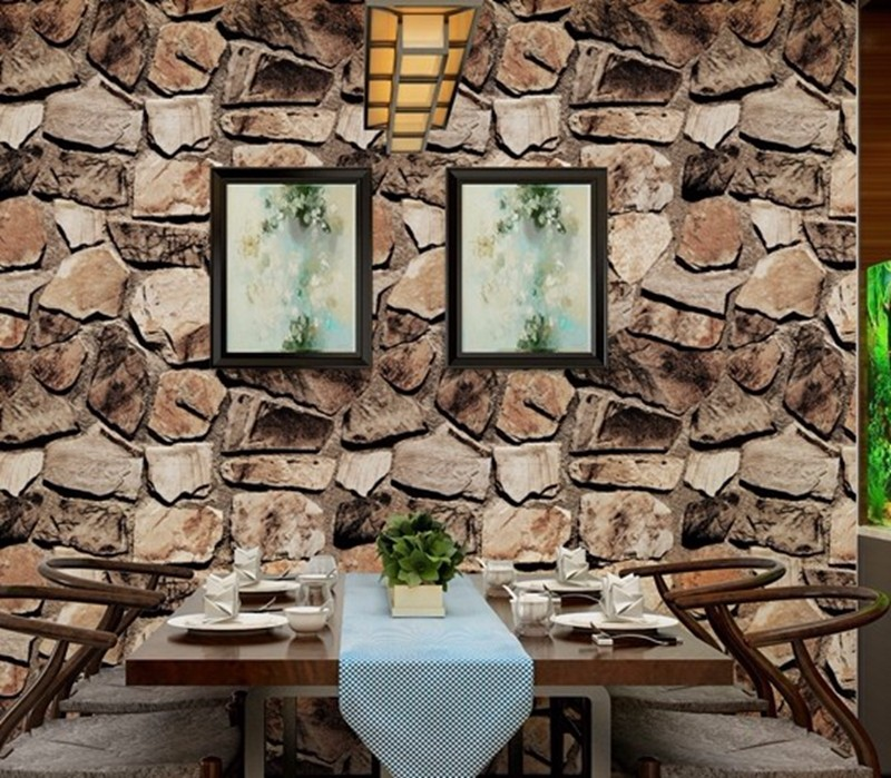 3d effect stone rock wallpaper vinyl rolling rock textured for 3d effect wallpaper for home