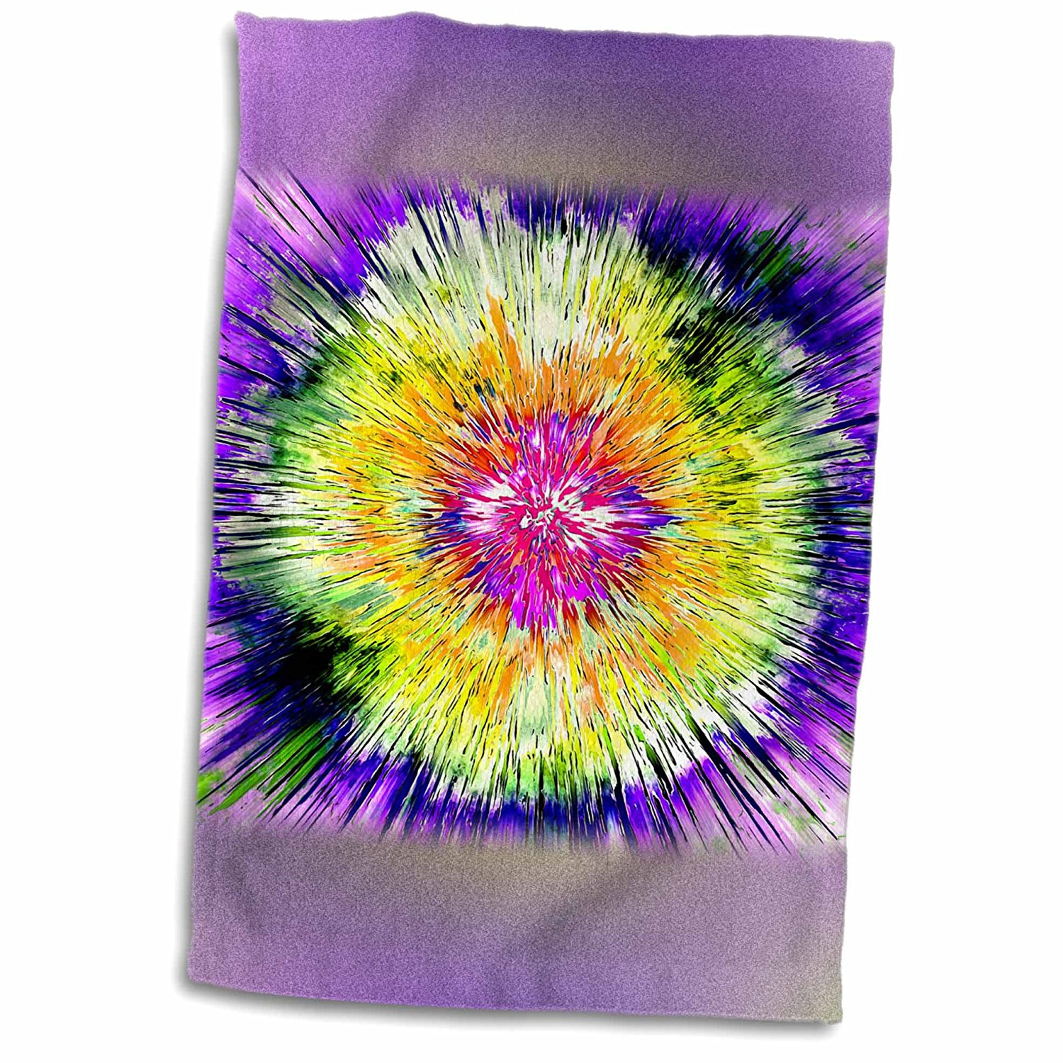 3dRose Phil Perkins - Abstract - Textured Retro Tie Die - colorful tie dye design with texture - 12x18 Towel (twl_243431_1)