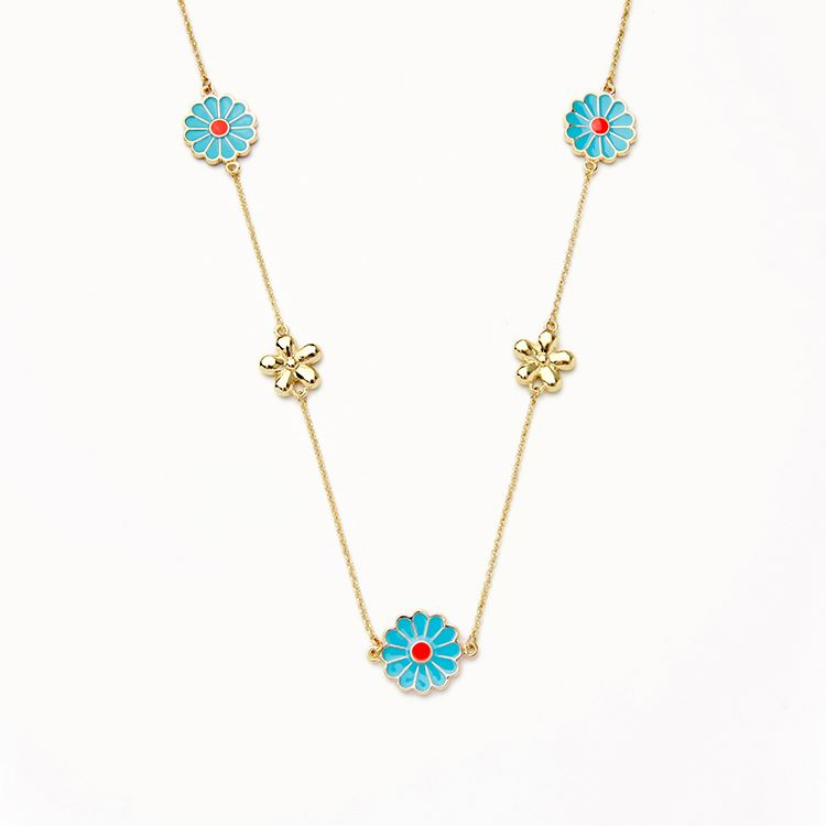 Jewellery New Gold Chain Design Girls Wild Flower Long Necklace ...