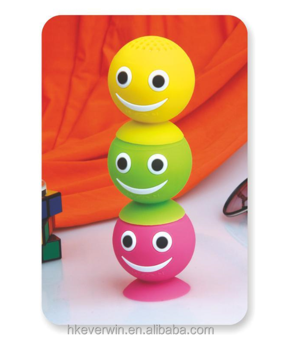 Smiley face mini bluetooth <strong>speaker</strong> BT 4.0 high end waterproof wireless <strong>speaker</strong>