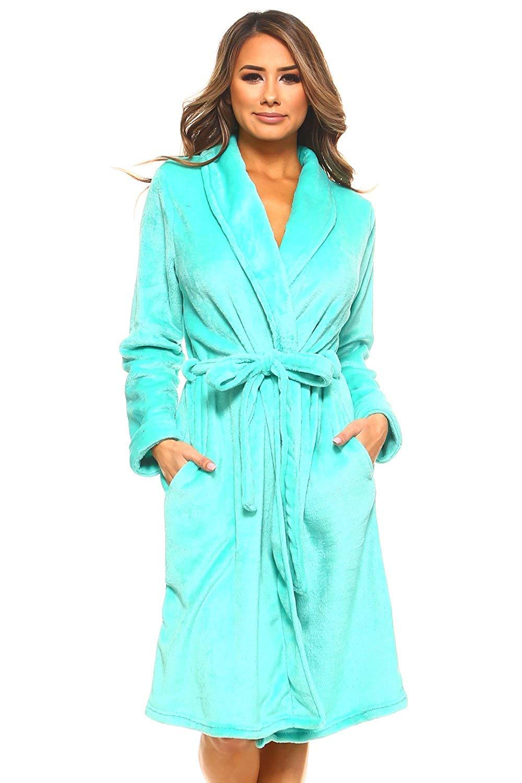 Get Quotations · MarCielo Womens Fleece Robe fc2875651