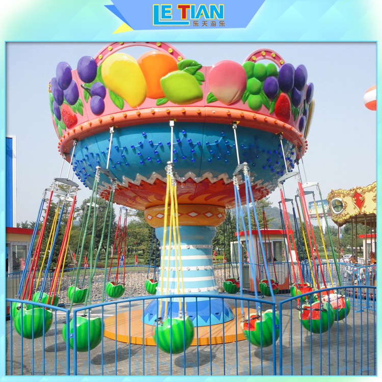 Outdoor China Amusement Rides Kids Swing Chair Fruit Flying Chair for sale