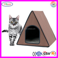 F168 Heated Cat House Tents With Fleece Bed Insert Pad Outdoor Cat Tents