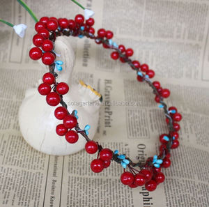 2016 New Style Artificial Red Fruit Garland For Christmas Decoration