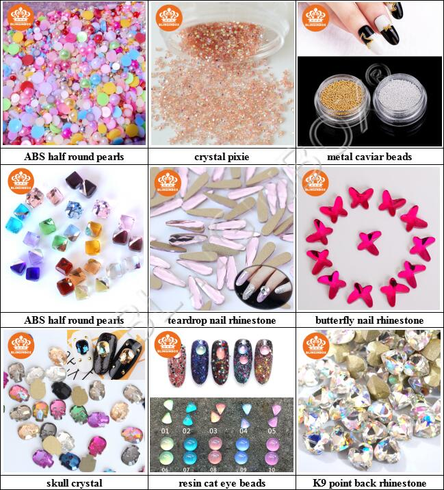 Factory Customized all colors 2088 style 16 cuts lt.siam AB color glass flat back MC nail art rhinestone