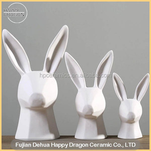 Ceramic Rabbit Figurine for Home and Furniture decoration