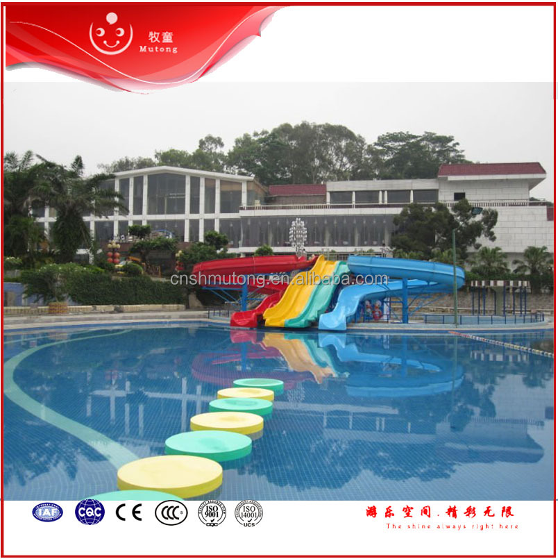 Aqua Fiberglass Spiral Slides for Water Sports,Used Water Park Slide