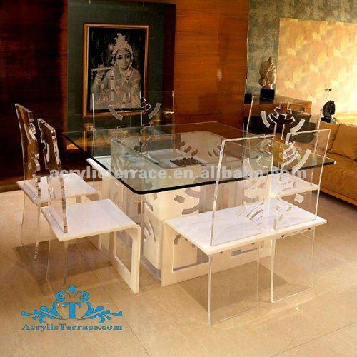 acryl klar einzigartige esszimmer gesetzt, tisch und stuhl-set des, Esstisch ideennn