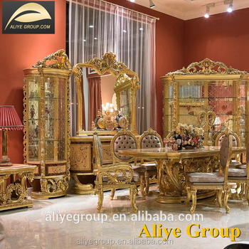 Gdm014 Baroque Antique Style Italian Dining Table 100 Solid Wood Italy Luxury