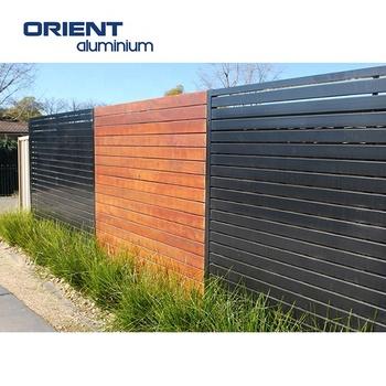 Factory Wholesale Customized Aluminum Wood Color Fences