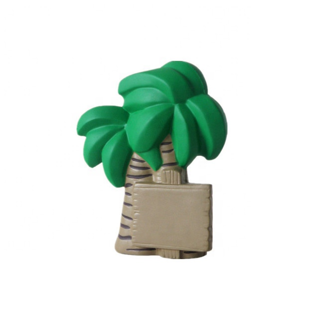 slow rising squeeze toy custom coconut tree stress ball