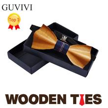 2016 Novelty Solid Good Wood Bow Tie For Men Classic Wood Bowties Neckwear Gravata Creative Handmade 3D Butterfly Wooden Tie