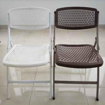 steel mesh folding chair home use