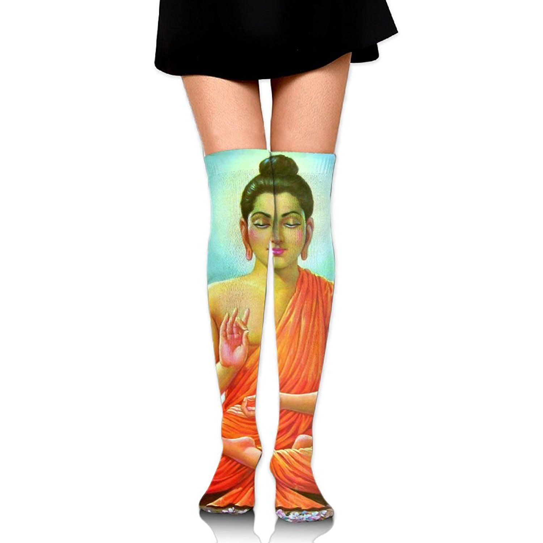 Zaqxsw Buddha Women Vintage Thigh High Socks Cotton Socks For Womens