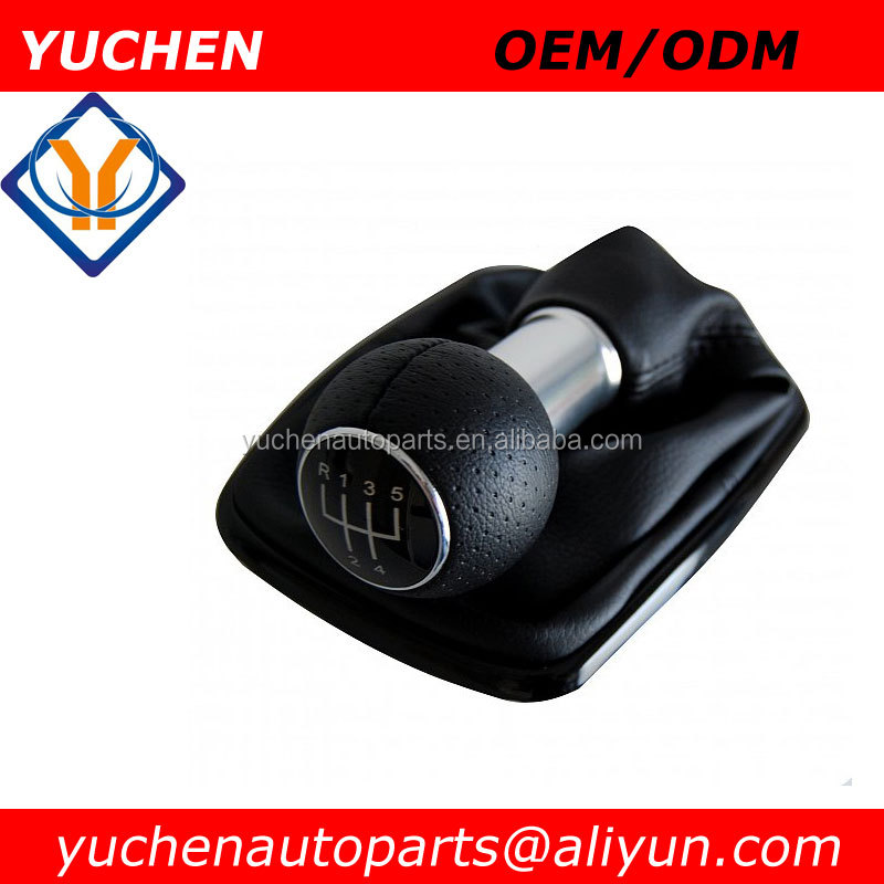 Factory Wholesales YUCHEN Car Shift Gear Knob With Leather Boot For VW Bora Mk4 Golf 4 1999-2005