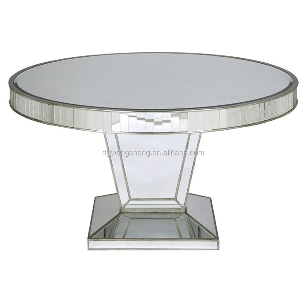 Modern design handmade round mirrored dining table buy dining tablesglass dining tablemodel dining table product on alibaba com