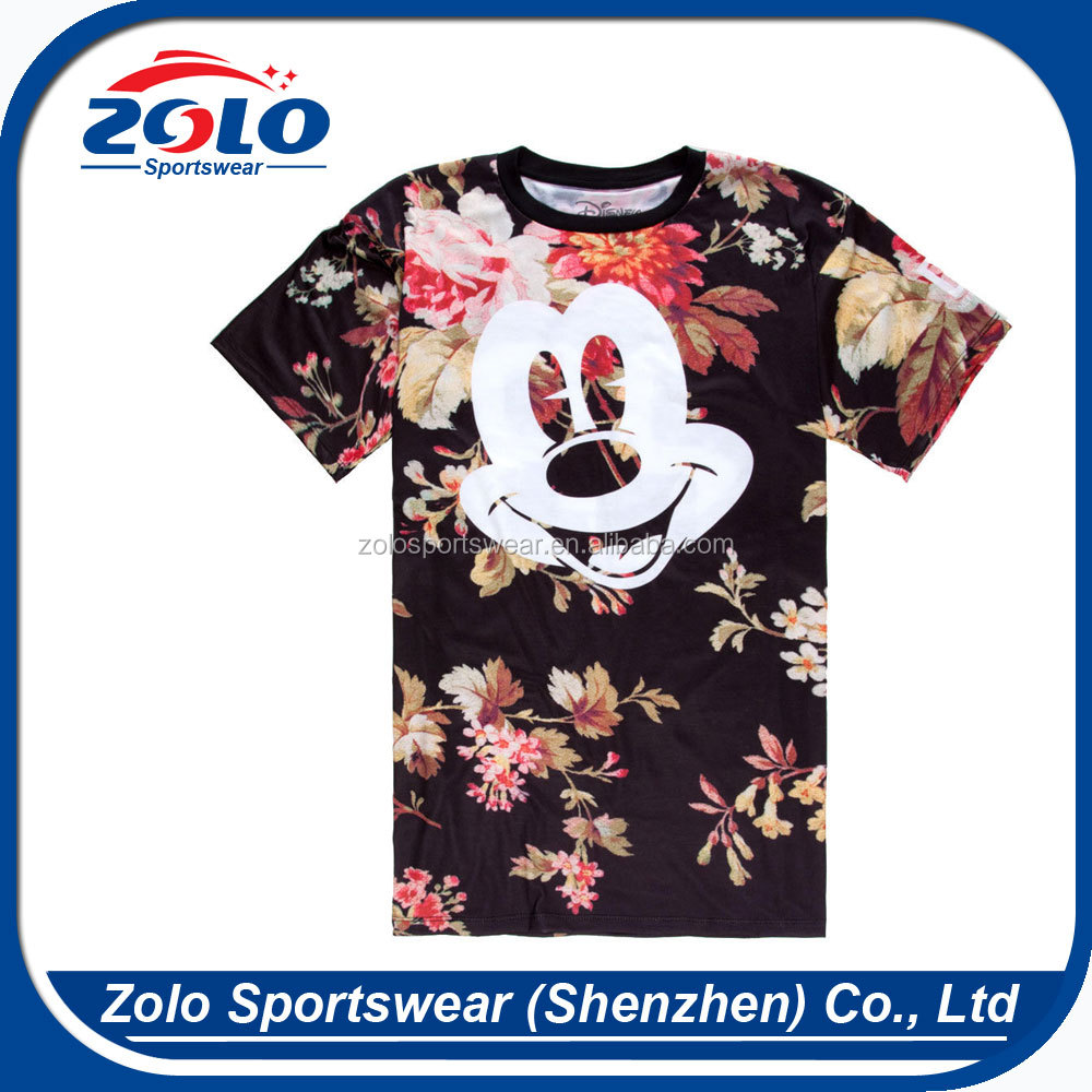 Cheap Custom Round Neck Adult Men's Sublimation Printing T Shirts
