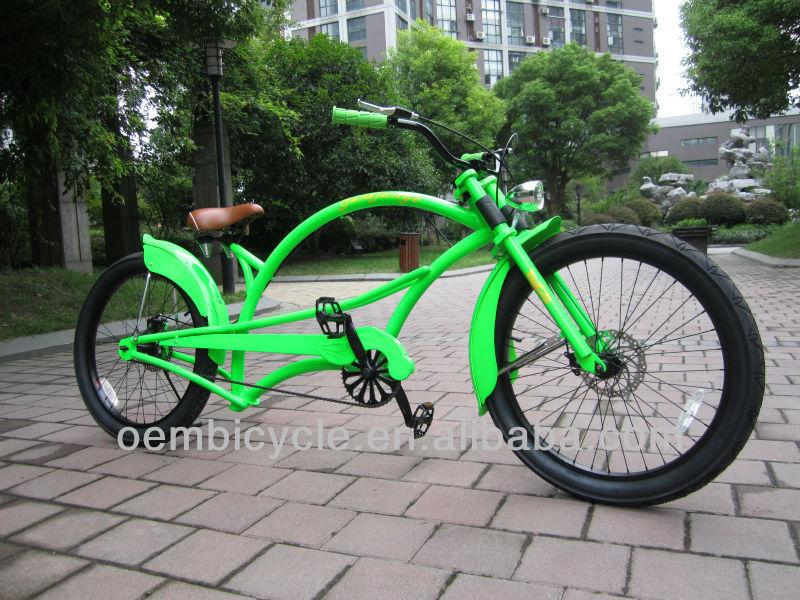 24 pulgadas con el color verde híbrido para adultos chopper crucero ...