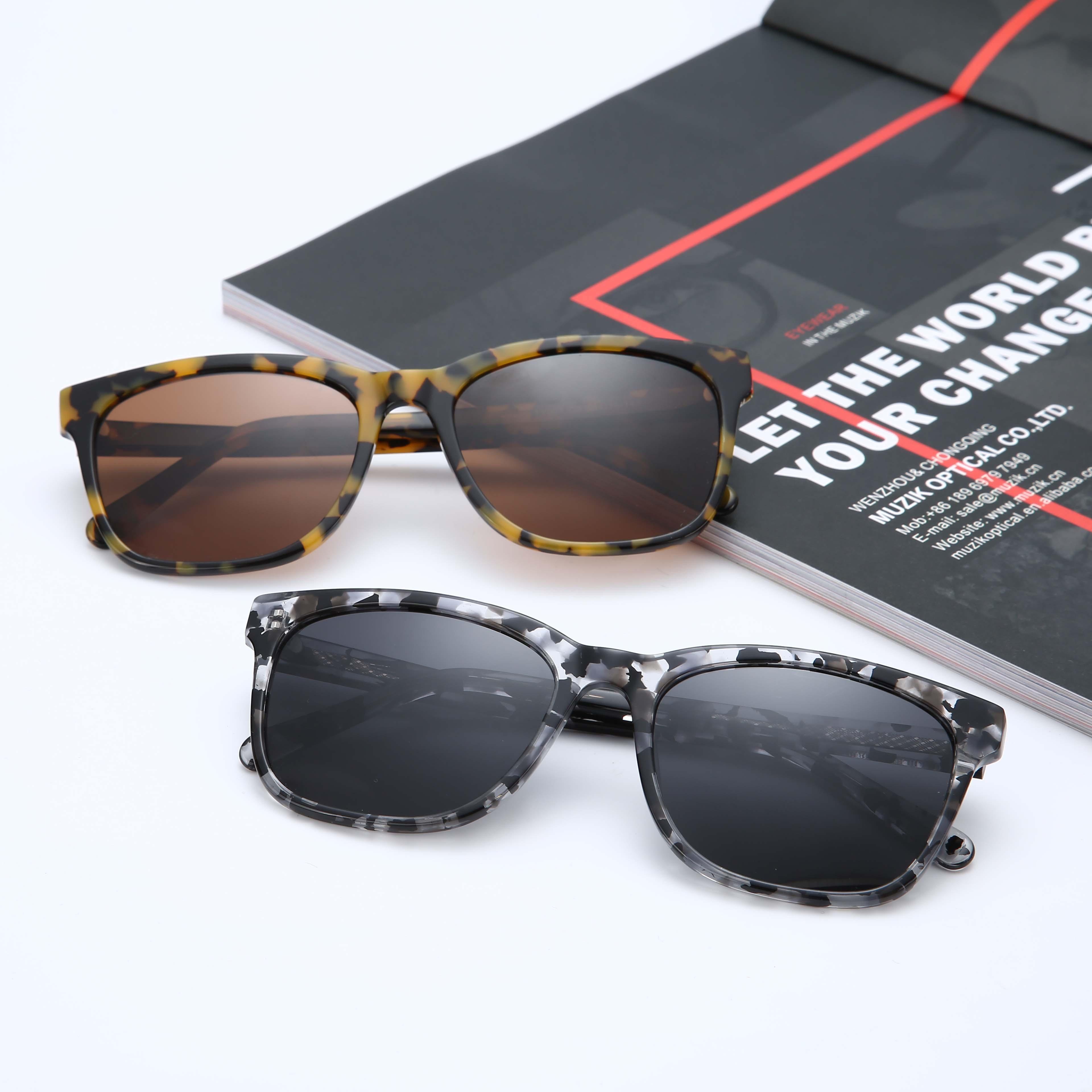 TY007 2019 wholesale custom men and women sun glasses fashion brand polarized acetate frame designer vintage sunglasses, N/a
