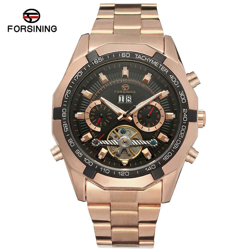 Steel Band Forsining Mechanical Watches Flying Wheels New Designer Men's Luxury Automatic Watches Chronograph Watches
