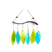 Spring Leaves Glass Bells Wind Chime