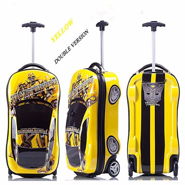 18 Inch Children Cartoon Car Design Trolley Suitcase Kids Wheeled ...