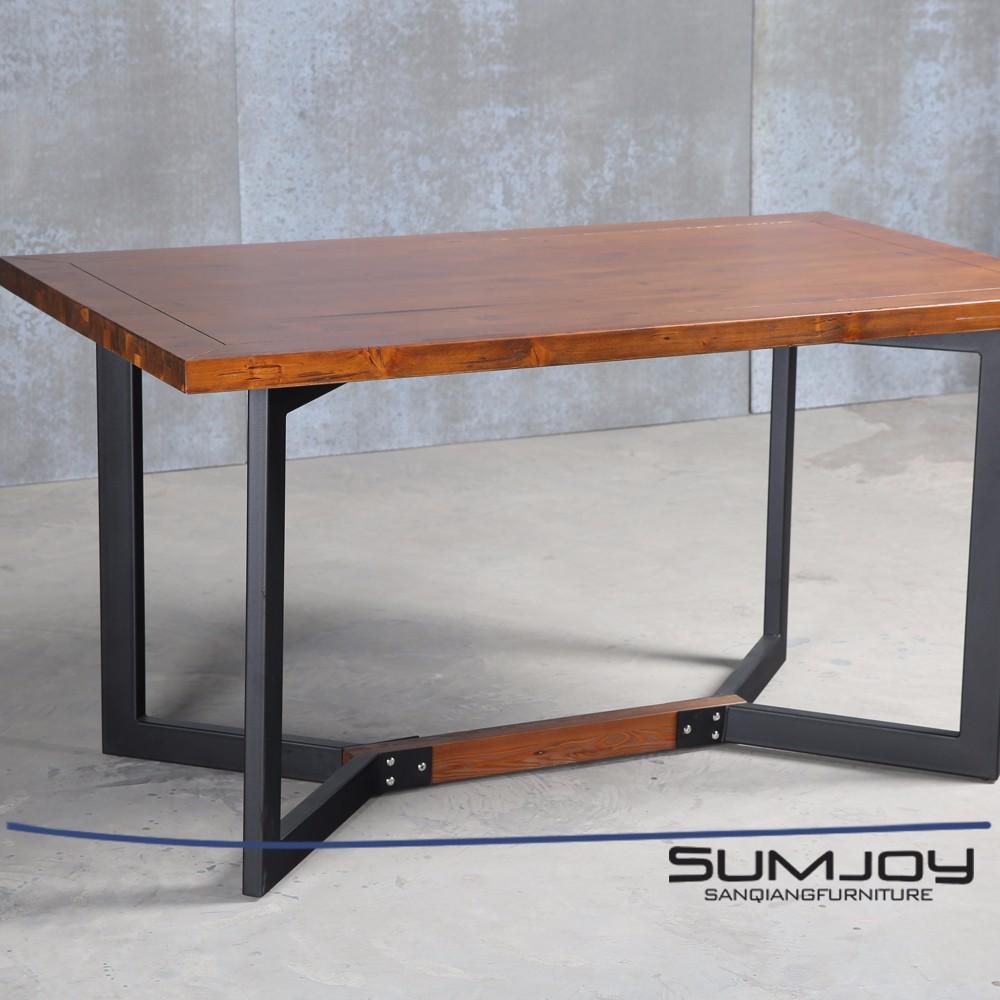 Sumjoy 스테인레스 스틸 빈티지 소나무 나무 콘솔 커피 테이블 ...