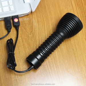 High quality folder scalable led torch flashlight underwater fishing equipment with XM-L2 led